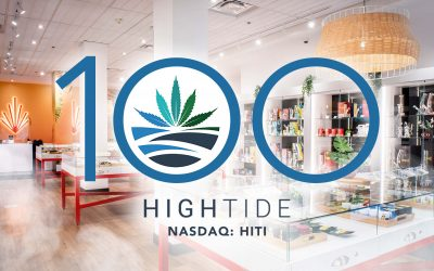 High Tide Becomes First Non-Franchised Canadian Cannabis Retailer to Surpass 100-Store Milestone